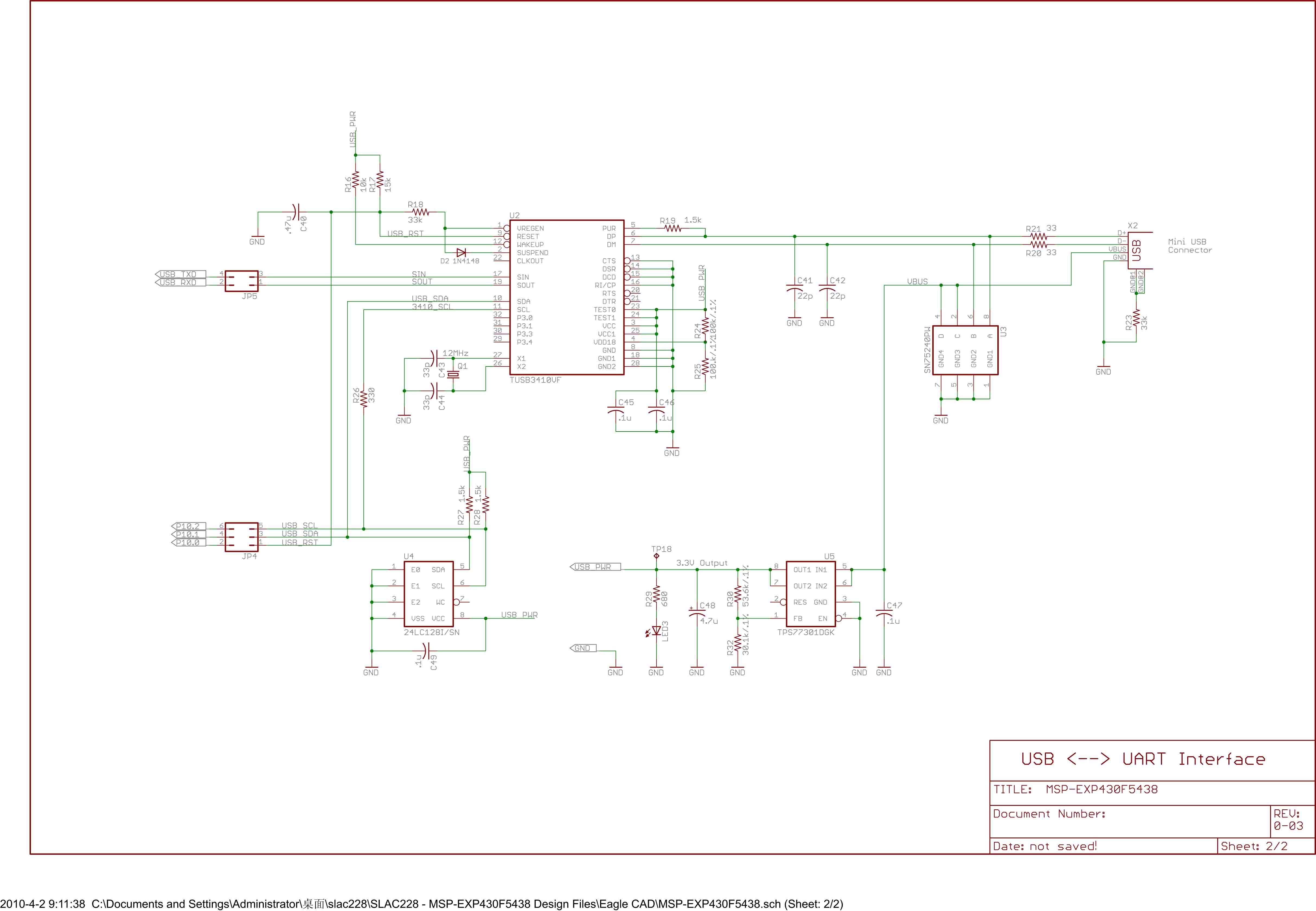 msp430开发板原理图-带注释