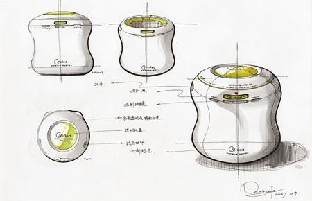 工业产品设计手绘图-贤集网