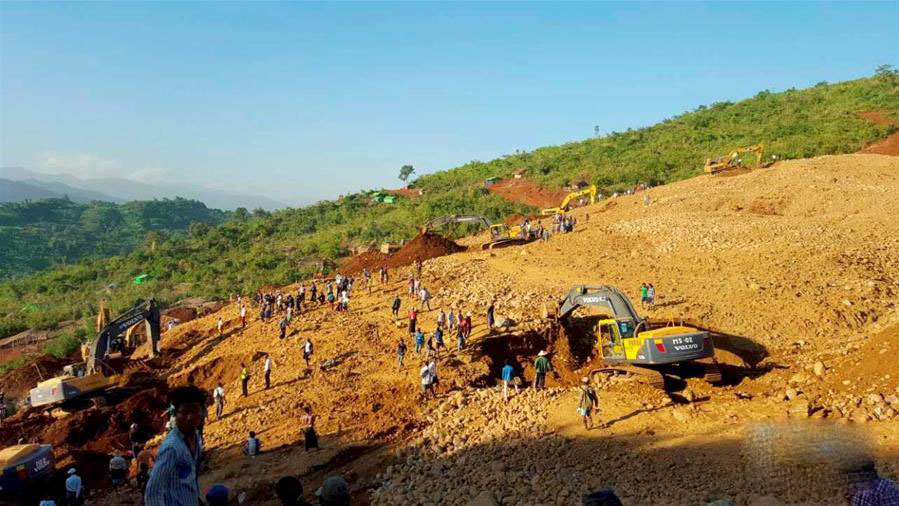 玉矿滑坡导致缅甸挖矿工人90人遇难!