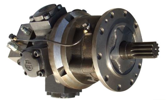 液压马达是液压系统的一个执行机构,是驱动设备部件旋转的一种液压图片