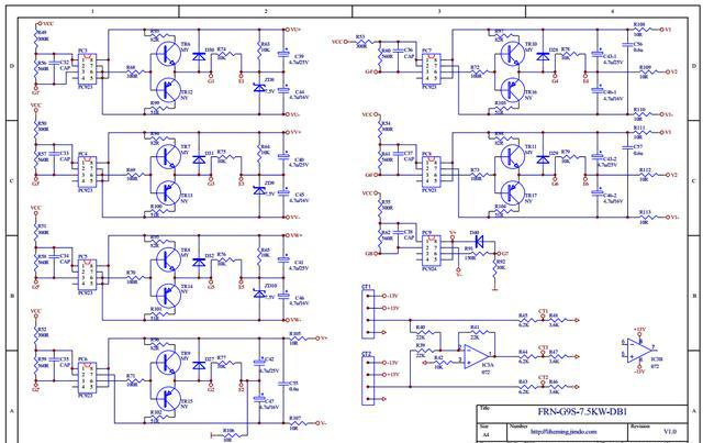 副边的整流二极管是否有击穿短路。 5、上电后18V/1W稳压二极管有电压,仍无显示,可除去外围一些插线,包括继电器线插头、风扇线插头,查风扇、继电器是否有短路现象。 6、P、N端上电后,18V/1W稳压二极管两端电压为8V左右,用示波器检查IC3845的输入端脚是否有锯齿波,输出端脚是否有输出。 7、检查开关电源的输出端+5V、15V、+24V及各路驱动电源对地以及极间是否有短路。 二、键盘显示正常,但无法操作: 1、若键盘显示正常,但各功能键均无法操作,此时应检查所用的键盘与主控板是否匹配(是否含有