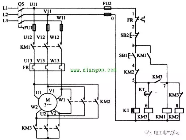 正文   2,星形-三角形降压启动电路   星形-三角形降压启动电路如图4