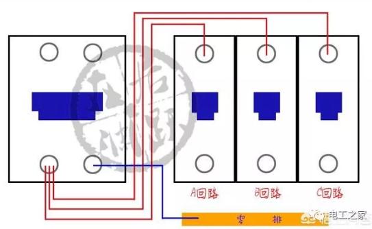 首页 行业资讯 电力电气 — 正文   共用零线   所有的1p空开(不带