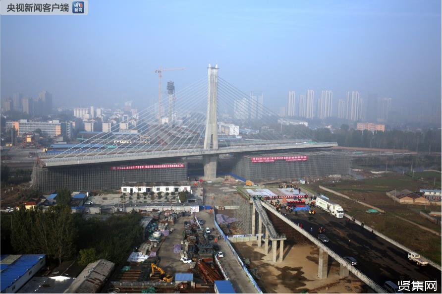 保定4.6万吨斜拉桥桥梁转体重量和跨度刷新世界纪录-贤集网资讯
