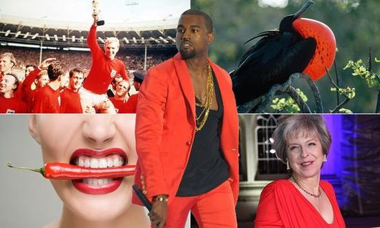 红色着装能让人更性感和具有吸引力?