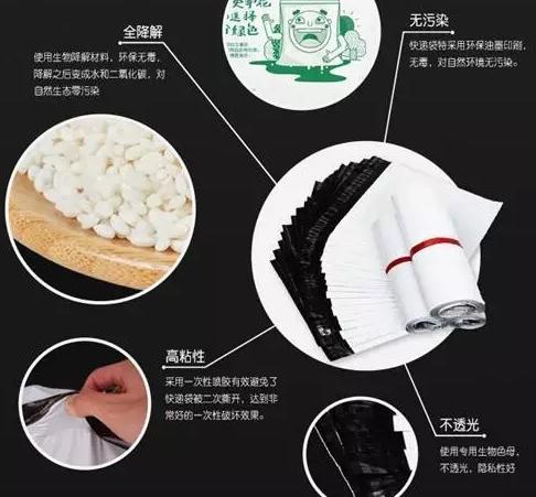 天猫企业购平台开始销售100%全生物降解快递袋