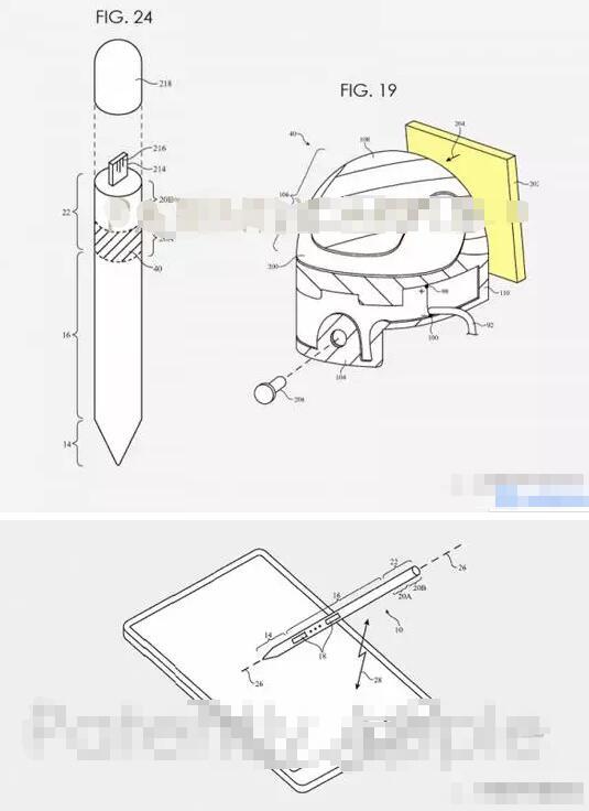 Apple Pencil专利携带更方便