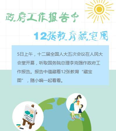 """政府工作报告中12张教育""""藏宝图"""""""