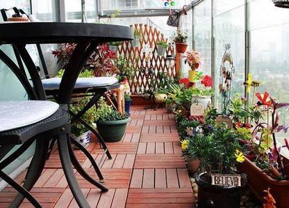 阳台上养鲜花绿植植物品种及布局介绍