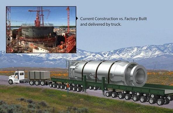 能装在卡车上的核电站:反应堆能供城市用电