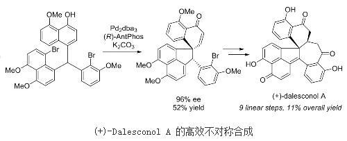 用九步高效完成了对Dalesconol A和B的首次不对称合成
