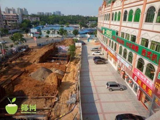 海口龙华区水体水环境综合治理项目施工拖拉致老稻美食街集体停业!