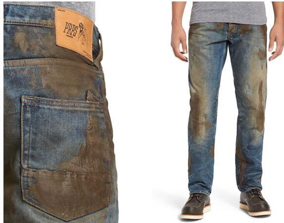 美诺德斯特龙百货售水泥污渍牛仔裤425美金引热议