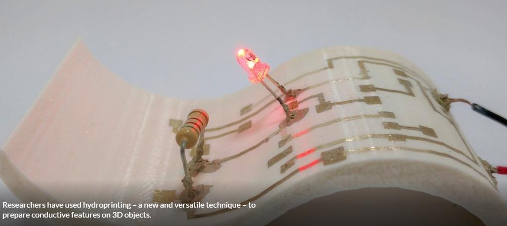 水印:一种在3D结构上打印导电图案的简单方法