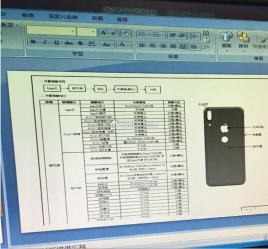 iPhone 8背部工程示意图生产配置流程图泄露