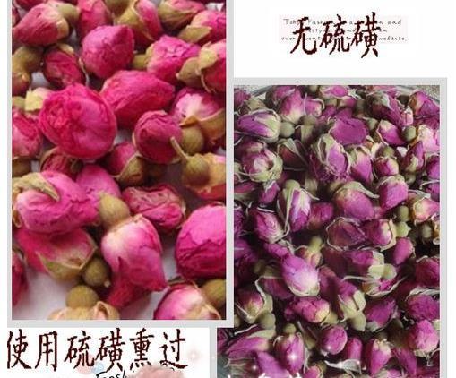 硫磺熏蒸干玫瑰花,玫瑰花茶硫磺熏制鉴别