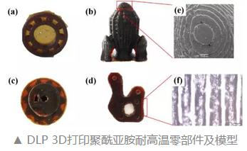 优异耐高温的光固化3D打印聚酰亚胺墨水研发成功
