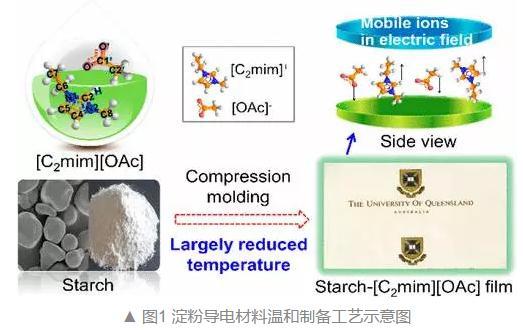 一种绿色、节能的熔融成型技术来制备淀粉基导电功能材料