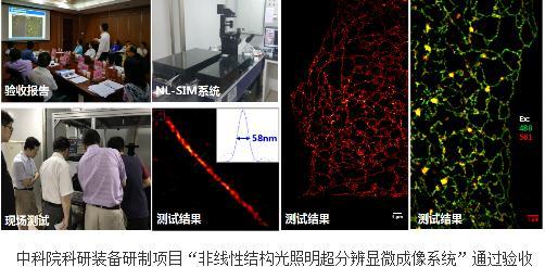 """""""非线性结构光照明超分辨显微成像系统""""项目通过验收"""