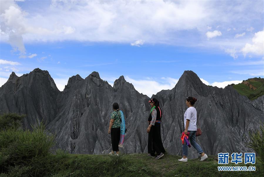 四川省道孚县八美镇中国墨石公园正式开放
