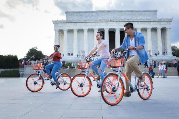 摩拜单车入驻美国华盛顿