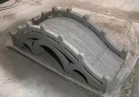 太空灰3D建筑打印中国拱桥模型