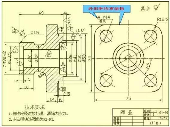 教你看懂复杂的机械加工图纸【方法汇总】