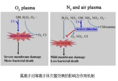 氯离子对等离子体灭菌效果的影响及作用机制