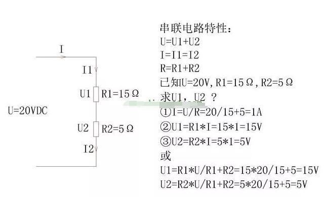 电阻串联与并联电路计算公式
