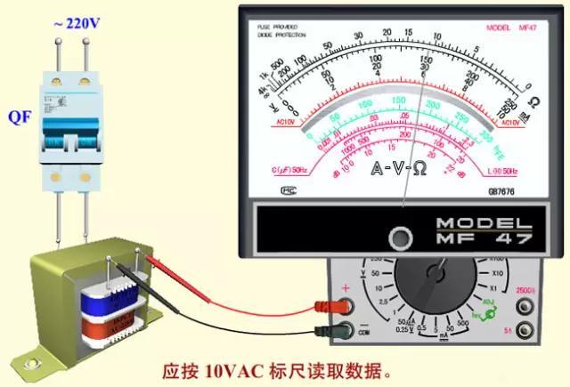 指针万用表的结构、使用方法(判断电动机转速、测量电流、电容、电压)