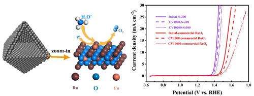 在酸性电解液中应用的高活性且稳定的OER电催化剂