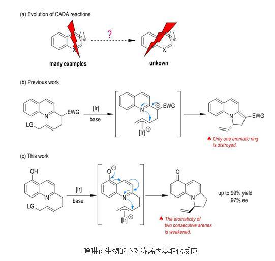 喹啉衍生物的不对称烯丙基取代反应研究进展