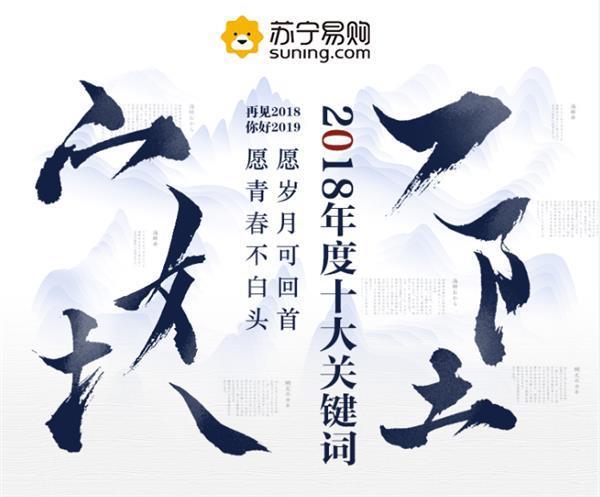 苏宁易购盘点2018年十大网络热词