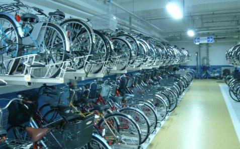 双轨复合式两轮车智能停车场结构与功能设计