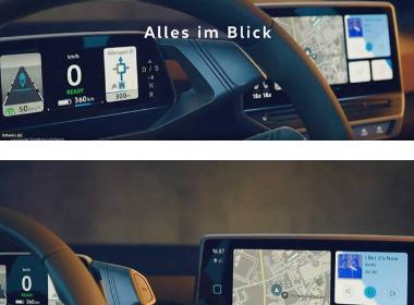 大众ID.3预告视频发布,电子档把与仪表盘连为一体设计