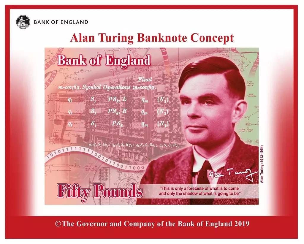 """艾伦·图灵吃毒苹果自杀,被乔布斯崇拜一生,将""""登上""""英镑钞票封面"""