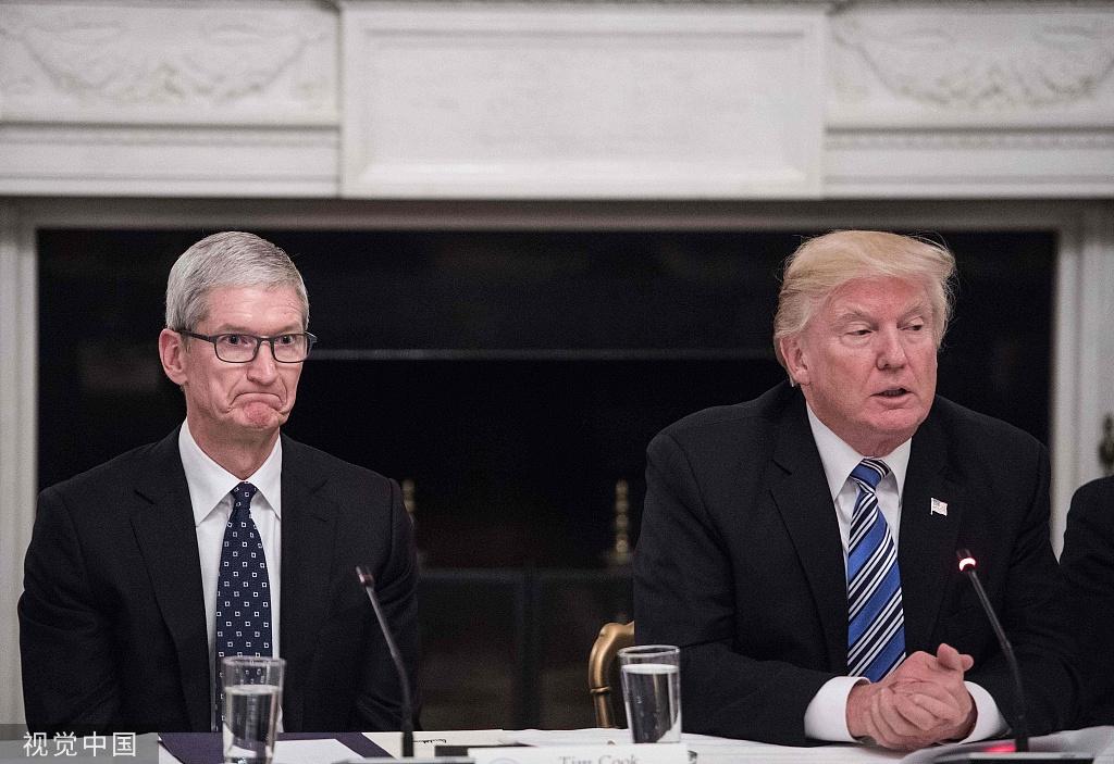 库克警告加关税将打击苹果有利三星 特朗普:有道理