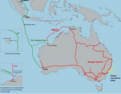 新加坡-澳洲asc海底光缆系统asc将提前两周启用