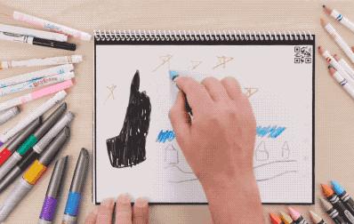 可循环涂鸦本Rocketbook Color:不是纸不是屏幕 绘画后直接存储