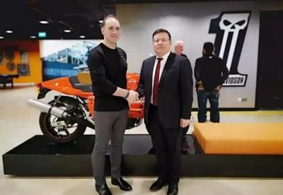 哈雷摩托与钱江摩托达成合作协议 将在中国生产小型哈雷摩托车