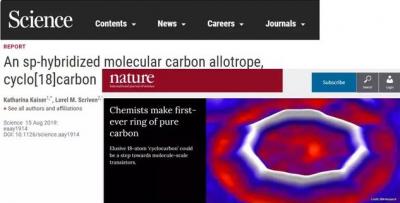 全球首例!单叁键交替C18碳环横空出世 有望制备分子尺度晶体管