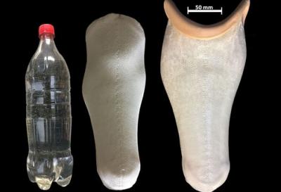 研究人员利用塑料废物制成便宜的假肢接受腔 成本只需10英镑