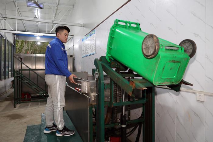西安全国首创厨余垃圾处理站 街道集中处理变废为宝