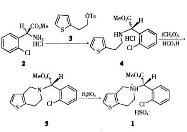 氯吡格雷硫酸氢盐制备的关键技术及应用