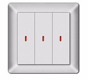 乐珂达三联86智能按键面板 LKD-BUS/LKD-KP03A智能照明控制系统面板/KP系列可编程按键面板