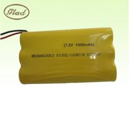 7.2V 800mAh LED灯具用的镍镉充电电池(AA)