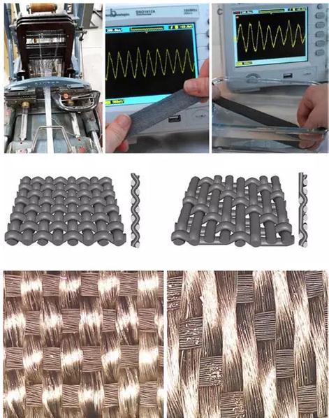 一种全纺织压电发电机解决了电子纺织品耐水洗性差的缺点