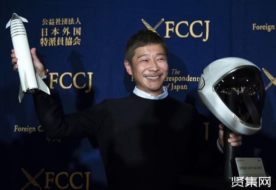 日本亿万富翁前泽友作(Yusaku Maezawa)成首位绕月飞行乘客
