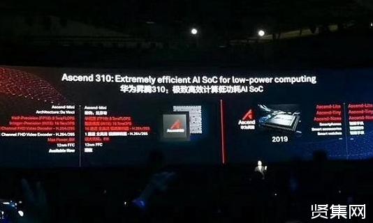 华为正式推出昇腾910、昇腾310两款AI芯片