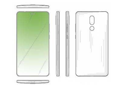 华为全面屏手机新专利被曝光:采用屏幕挖孔式听筒